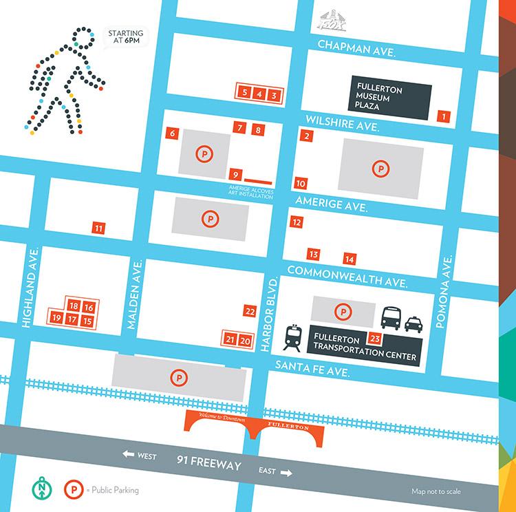Map/Directions   Downtown Fullerton Art Walk